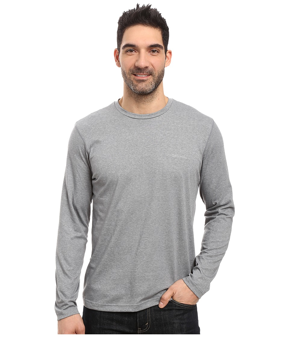 Columbia - Thistletown Park Long Sleeve Crew (Grey Ash Heather) Men's Long Sleeve Pullover