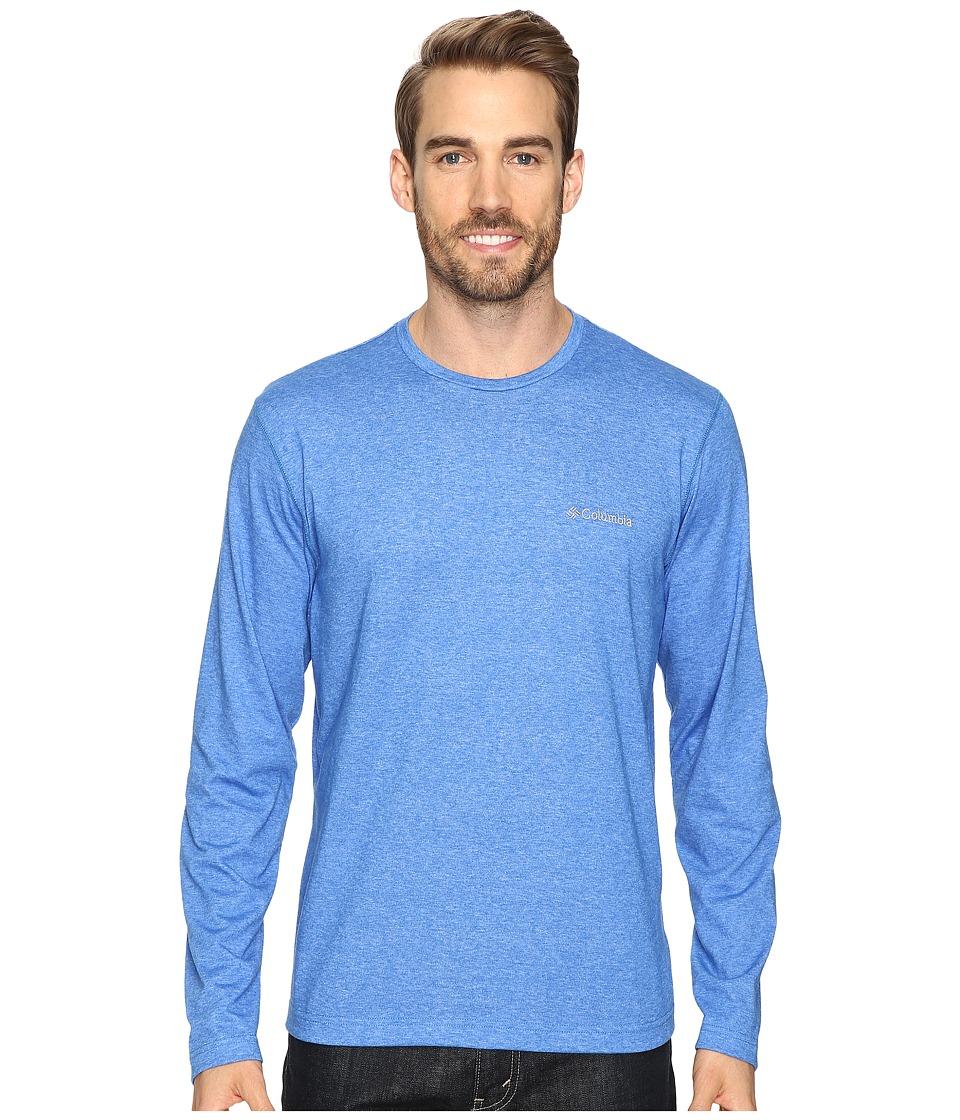 Columbia - Thistletown Park Long Sleeve Crew (Super Blue Heather) Men's Long Sleeve Pullover