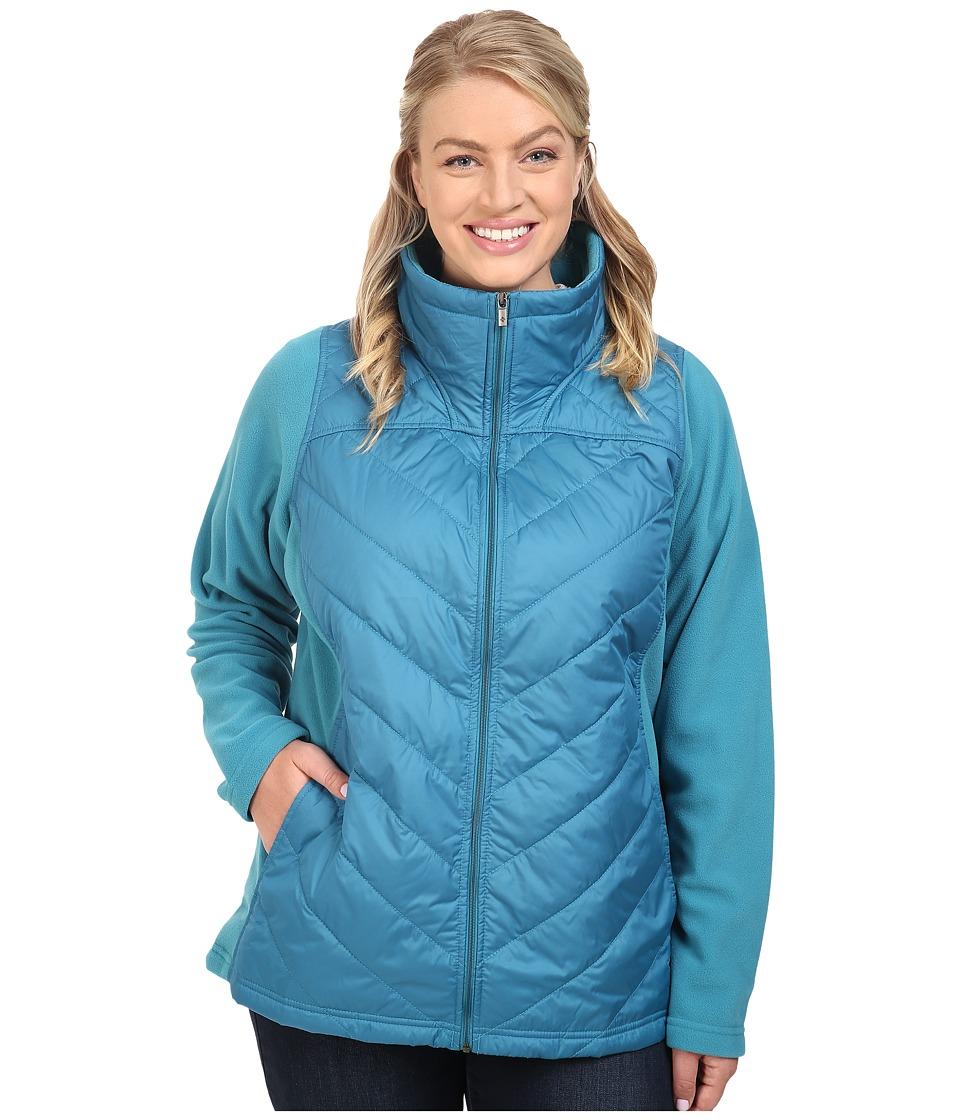 Columbia - Plus Size Mix It Around Full Zip (Deep Marine) Women's Coat