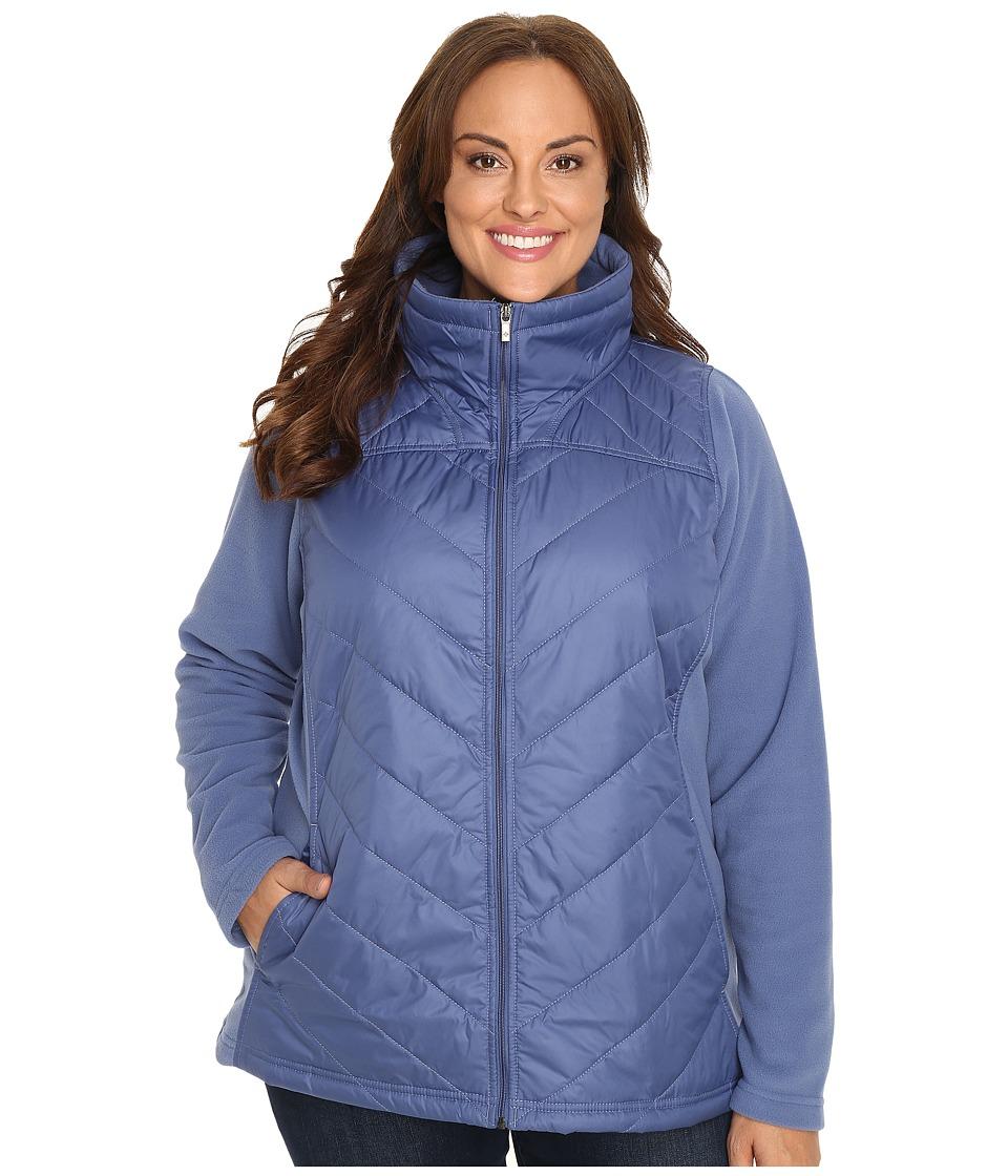 Columbia - Plus Size Mix It Around Full Zip (Bluebell) Women's Coat