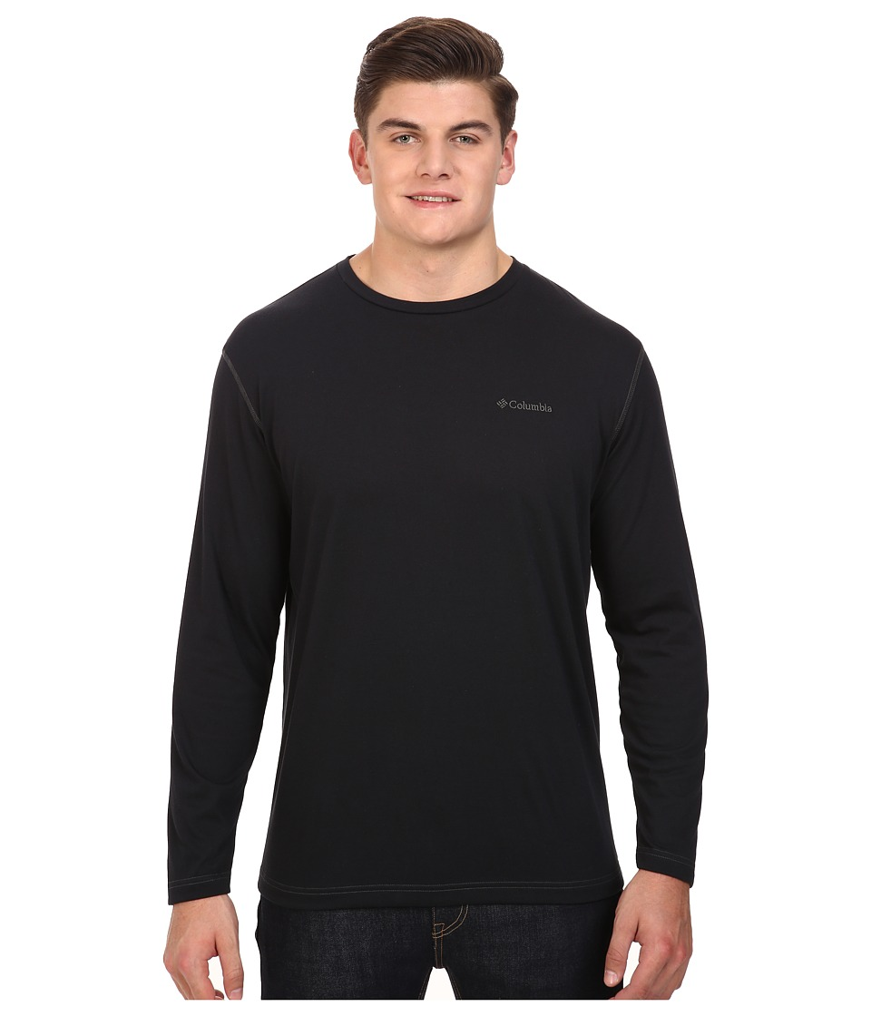 Columbia - Plus Size Thistletown Park Long Sleeve Crew (Black) Men's Long Sleeve Button Up