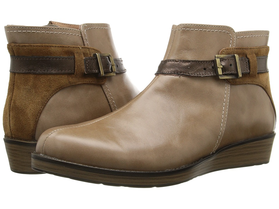 Naot Footwear - Cozy (Arizona Tan Leather/Desert Suede/Copper Leather) Women's Boots