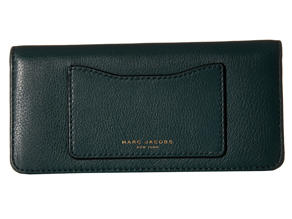 Marc Jacobs - Recruit Open Face Wallet (Green Jewel) Wallet Handbags