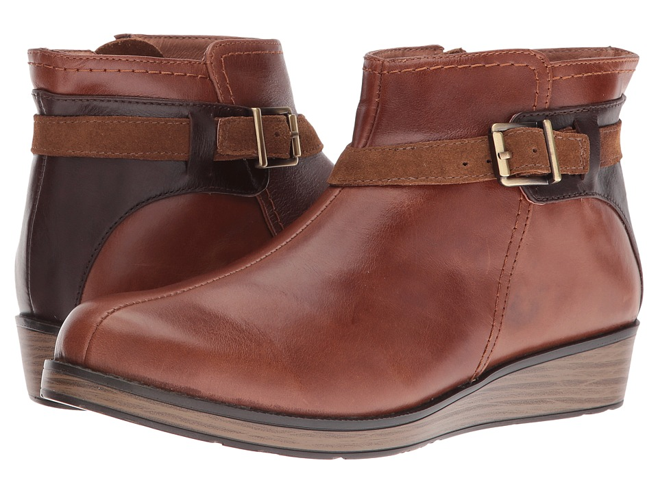 Naot Footwear - Cozy (Maple Brown Leather/Walnut Leather/Desert Suede) Women's Boots
