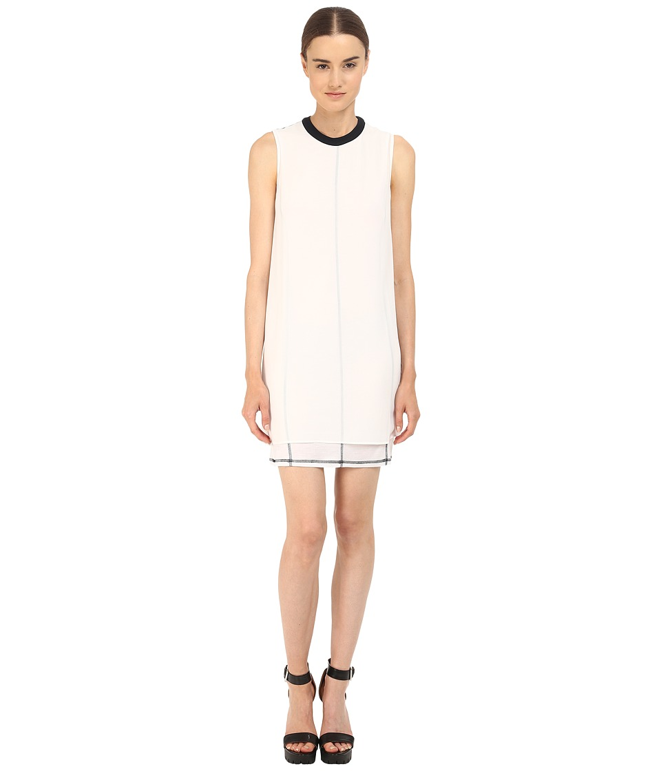McQ - Overlay Tank Dress (Optic White) Women's Dress