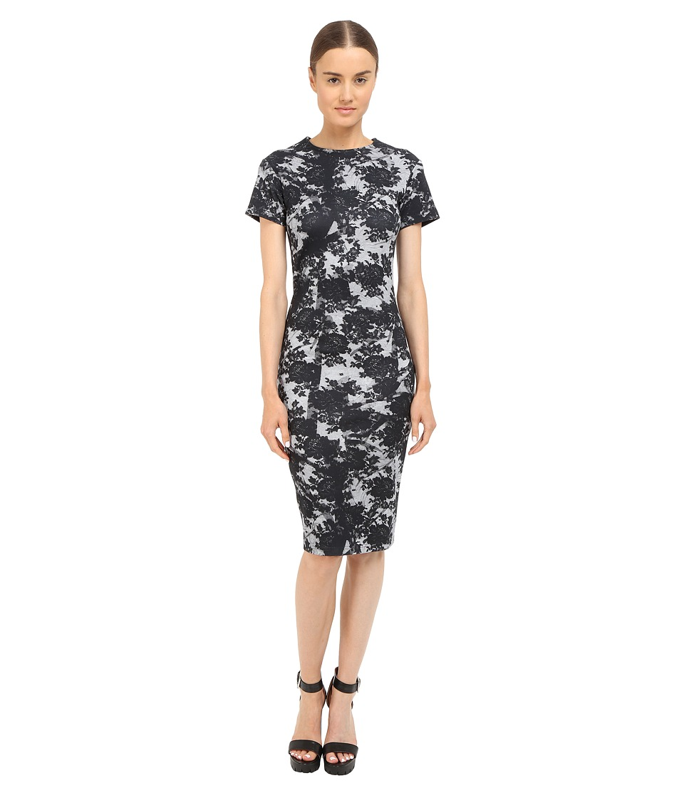 McQ - Long Bodycon Dress (Gunmetal) Women's Dress