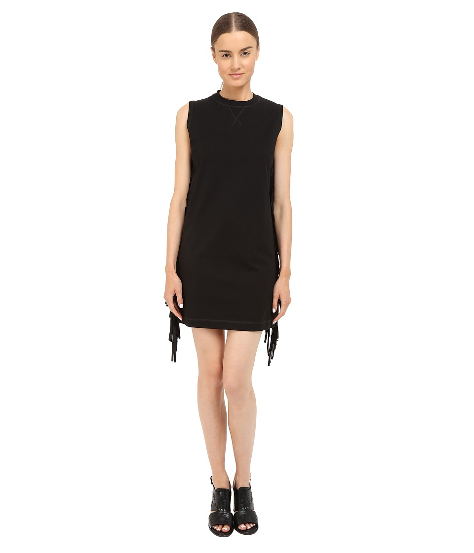 McQ - Fringe Sleeve Dress (Darkest Black) Women's Dress