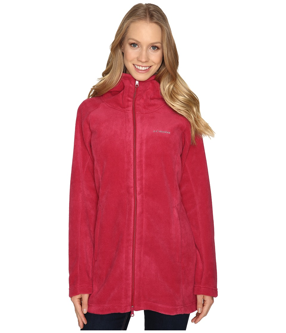 Columbia - Benton Springs II Long Hoodie (Red Orchid) Women's Coat