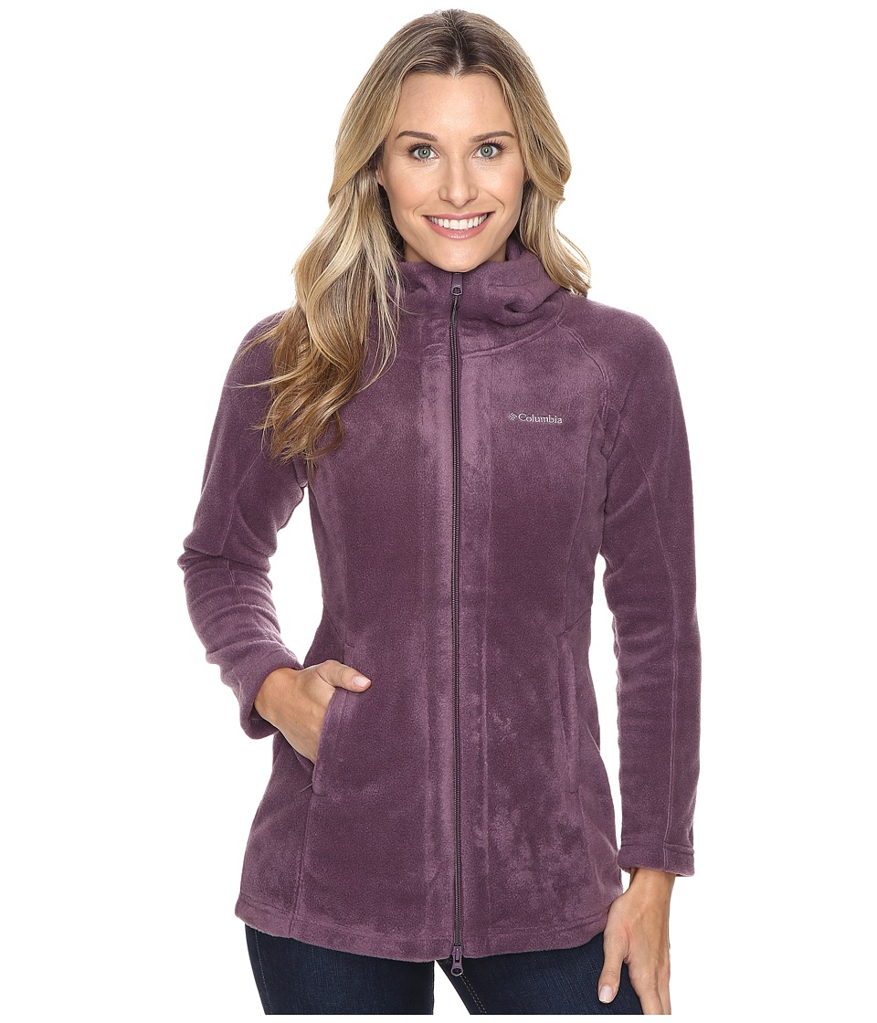 Columbia - Benton Springs II Long Hoodie (Dusty Purple) Women's Coat