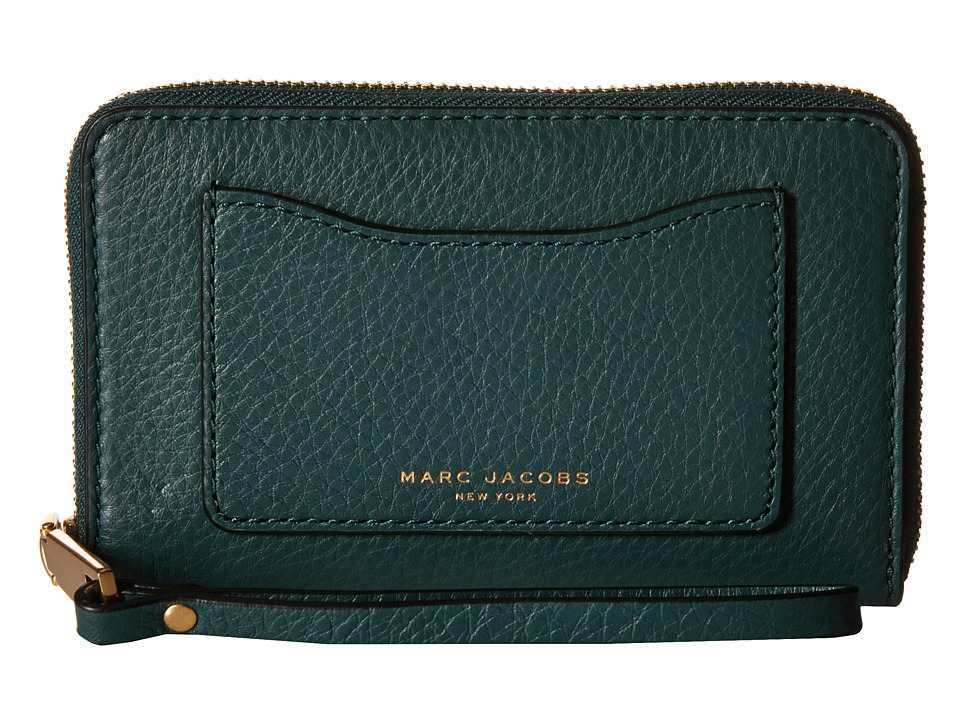 Marc Jacobs - Recruit Zip Phone Wristlet (Green Jewel) Wristlet Handbags