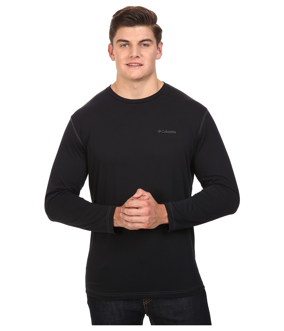 Columbia - Big Tall Thistletown Park Long Sleeve Crew (Black) Men's Long Sleeve Pullover