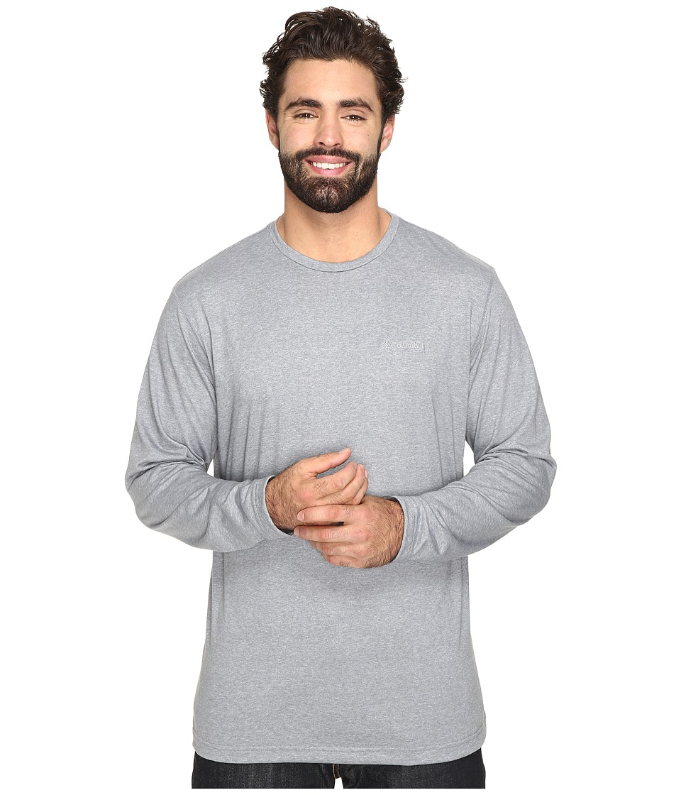 Columbia - Big Tall Thistletown Park Long Sleeve Crew (Grey Ash Heather) Men's Long Sleeve Pullover