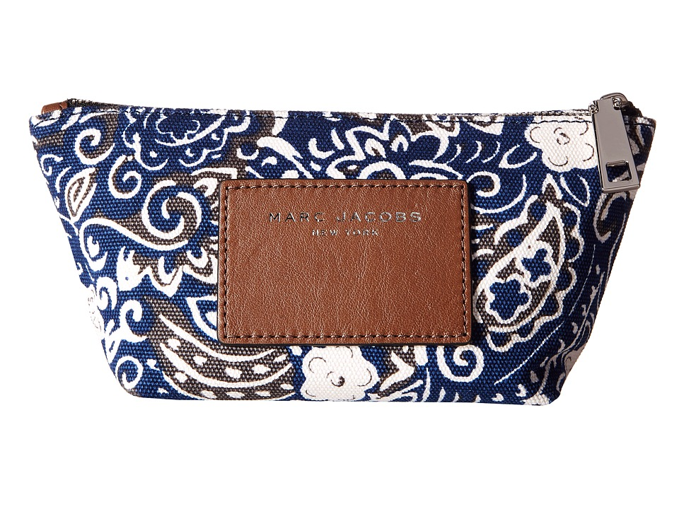 Marc Jacobs - Paisley Cosmetics Small Trapezoid (Rail Blue Multi) Cosmetic Case