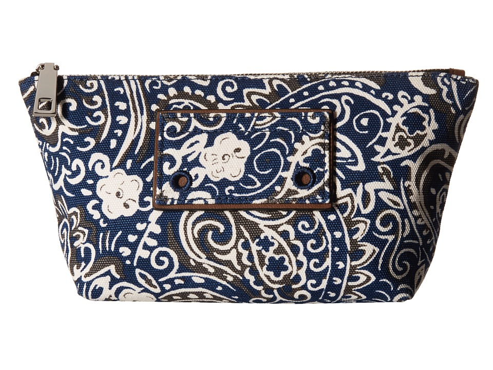 Marc Jacobs - Paisley Cosmetics Trapezoid (Rail Blue Multi) Cosmetic Case