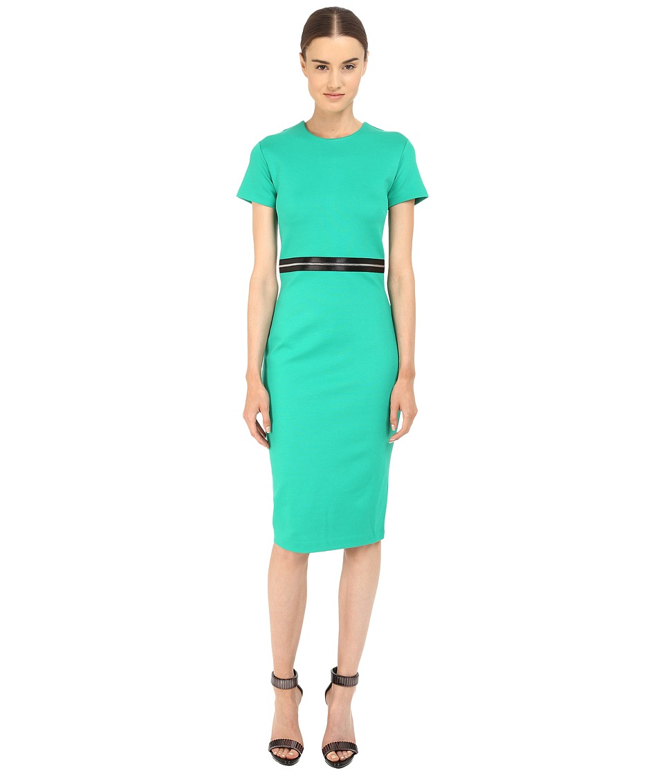 McQ - Bodycon Zip Dress (Emerald) Women's Dress