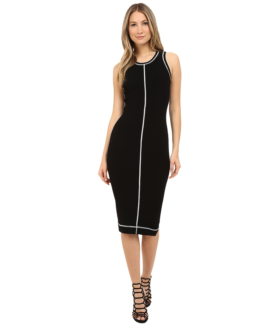 McQ - Cover Stitch Dress (Darkest Black) Women's Dress