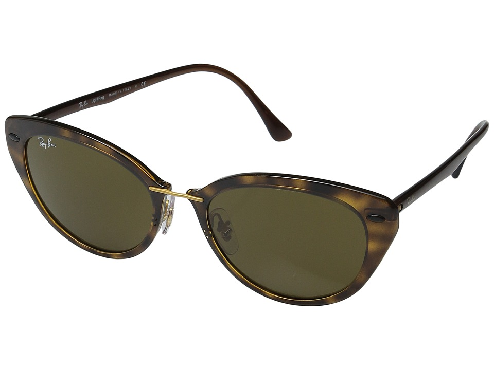 Ray-Ban - RB4250 52mm (Shiny Havana Frame/Dark Brown Lens) Fashion Sunglasses
