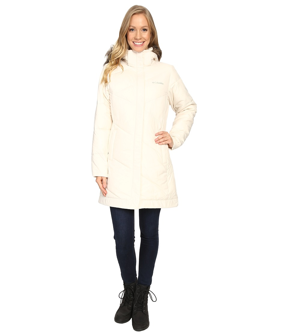 Columbia - Snow Eclipse Mid Jacket (Chalk) Women's Coat