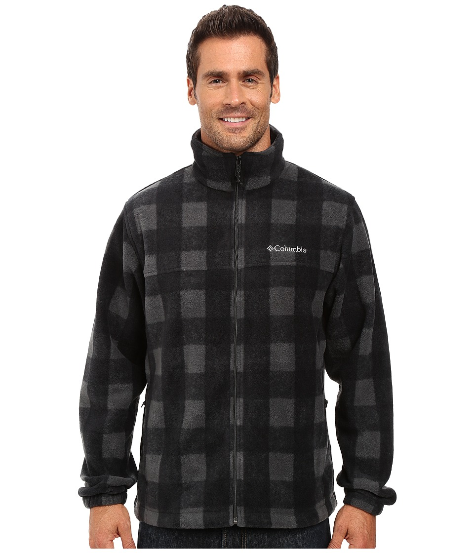 Columbia - Steens Mountain Print Jacket (Shark Buffalo) Men's Coat