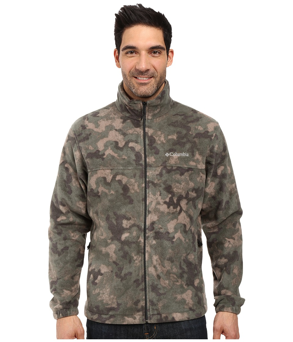 Columbia - Steens Mountain Print Jacket (Deep Green Camo) Men's Coat