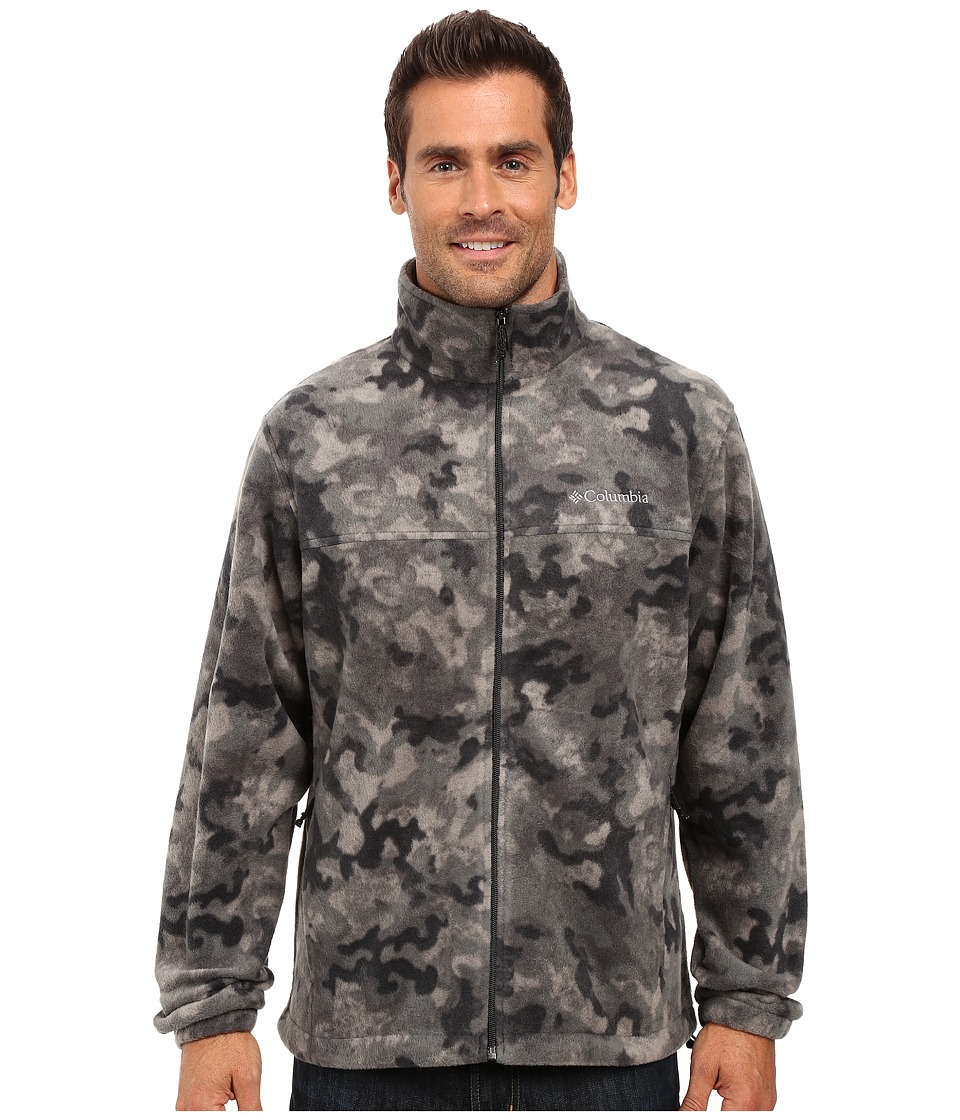 Columbia - Steens Mountain Print Jacket (Black Camo 1) Men's Coat