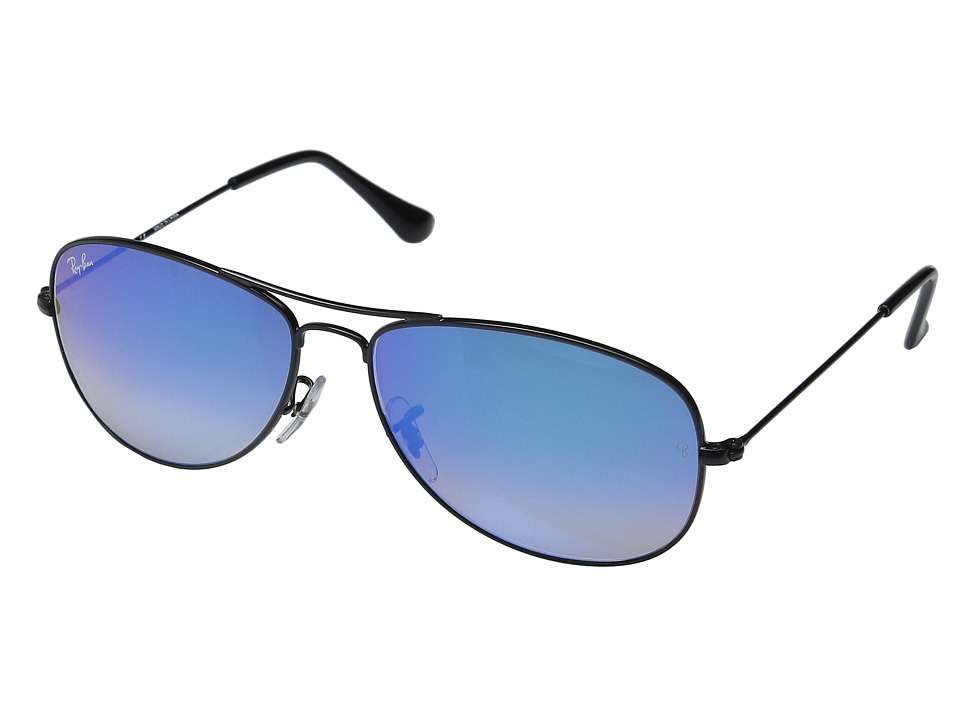 Ray-Ban - RB3362 Cockpit 59mm (Black Frame/Mirror Gradient Blue Lens) Fashion Sunglasses