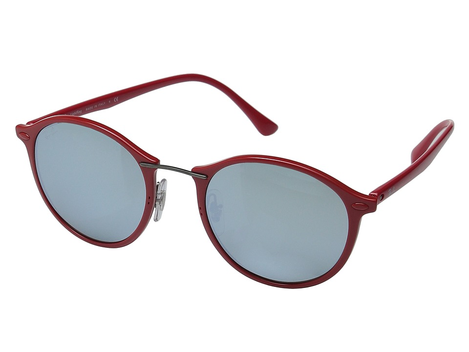 Ray-Ban - RB4242 49mm (Red Frame/Green Mirror Silver Lens) Fashion Sunglasses