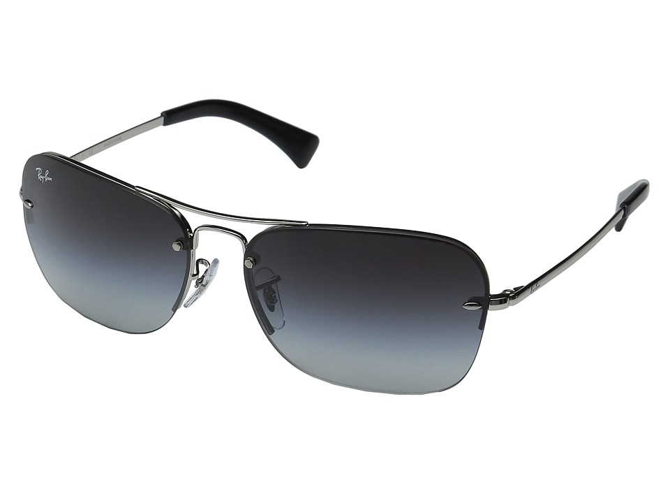 Ray-Ban - RB3541 61mm (Silver Frame/Grey Gradient Lens) Fashion Sunglasses