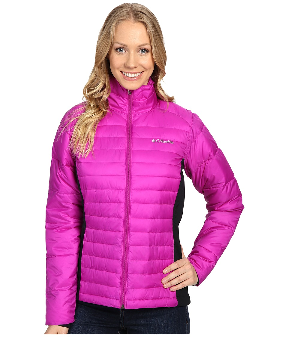 Columbia - Powder Pillow Hybrid Jacket (Bright Plum) Women's Coat