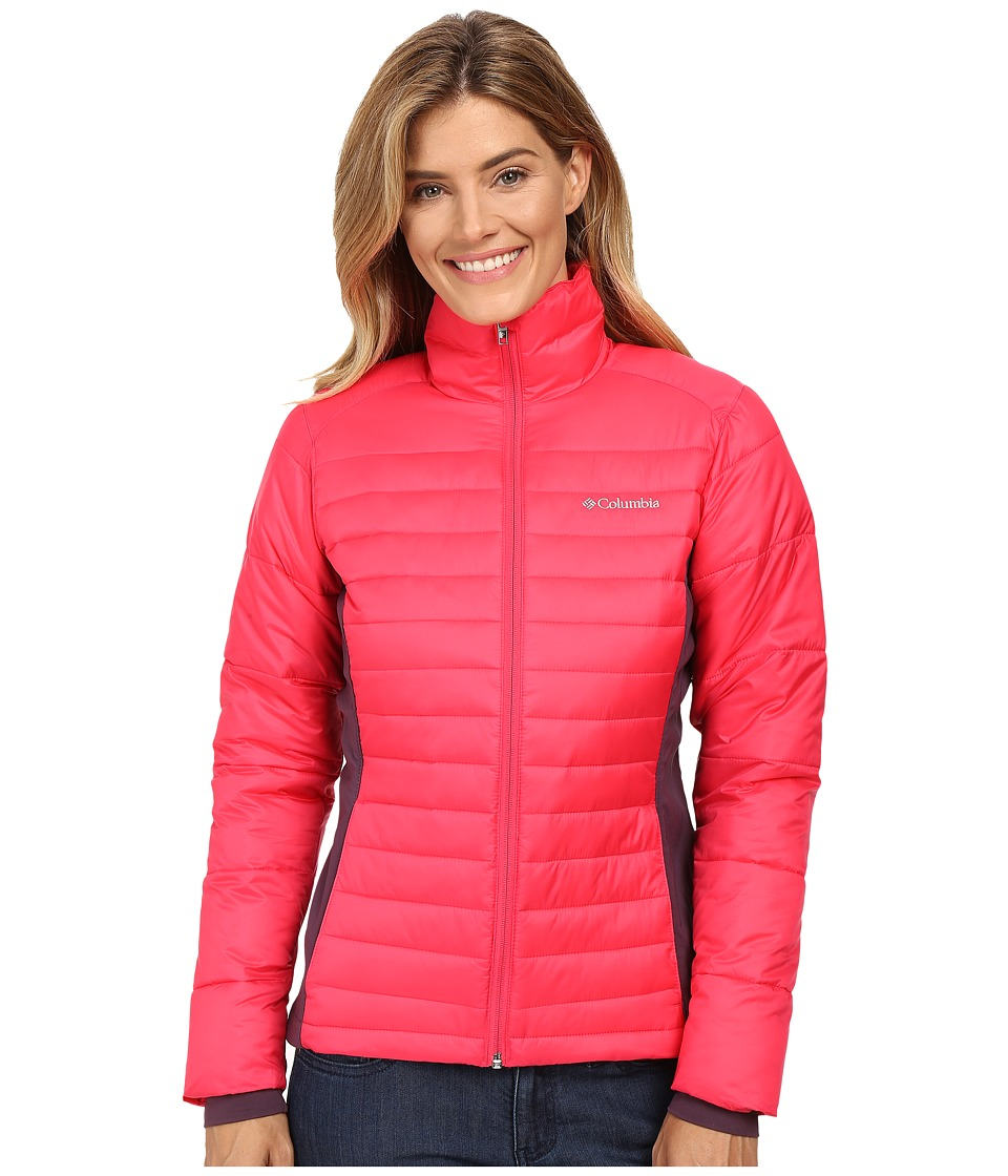 Columbia - Powder Pillow Hybrid Jacket (Punch Pink) Women's Coat