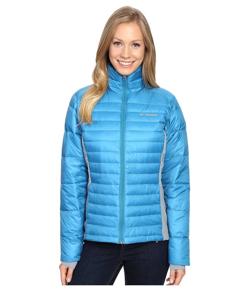 Columbia - Powder Pillow Hybrid Jacket (Deep Marine) Women's Coat