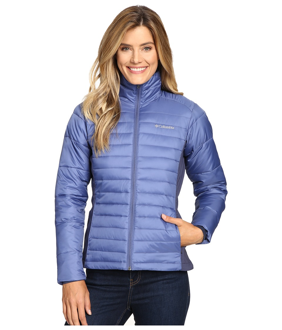 Columbia - Powder Pillow Hybrid Jacket (Bluebell) Women's Coat