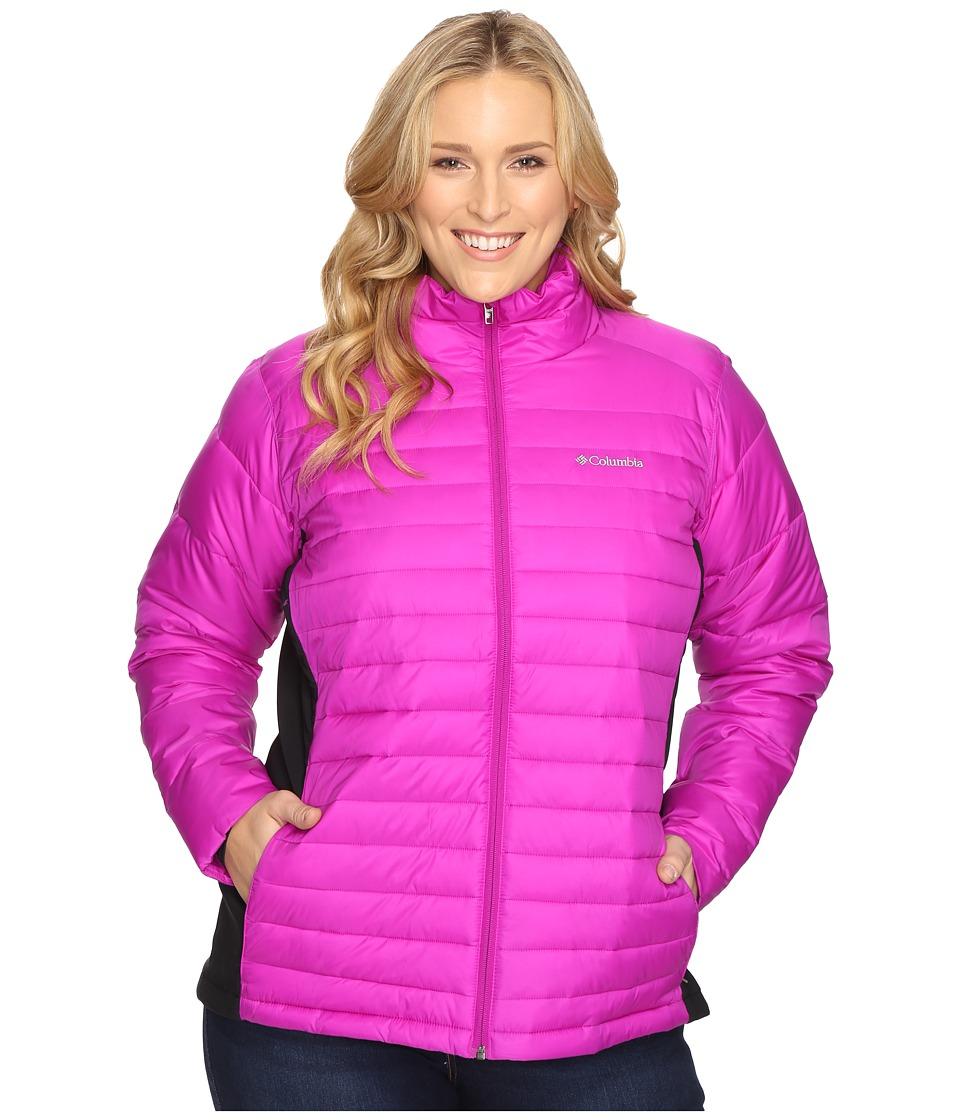 Columbia - Plus Size Powder Pillow Hybrid Jacket (Bright Plum) Women's Coat