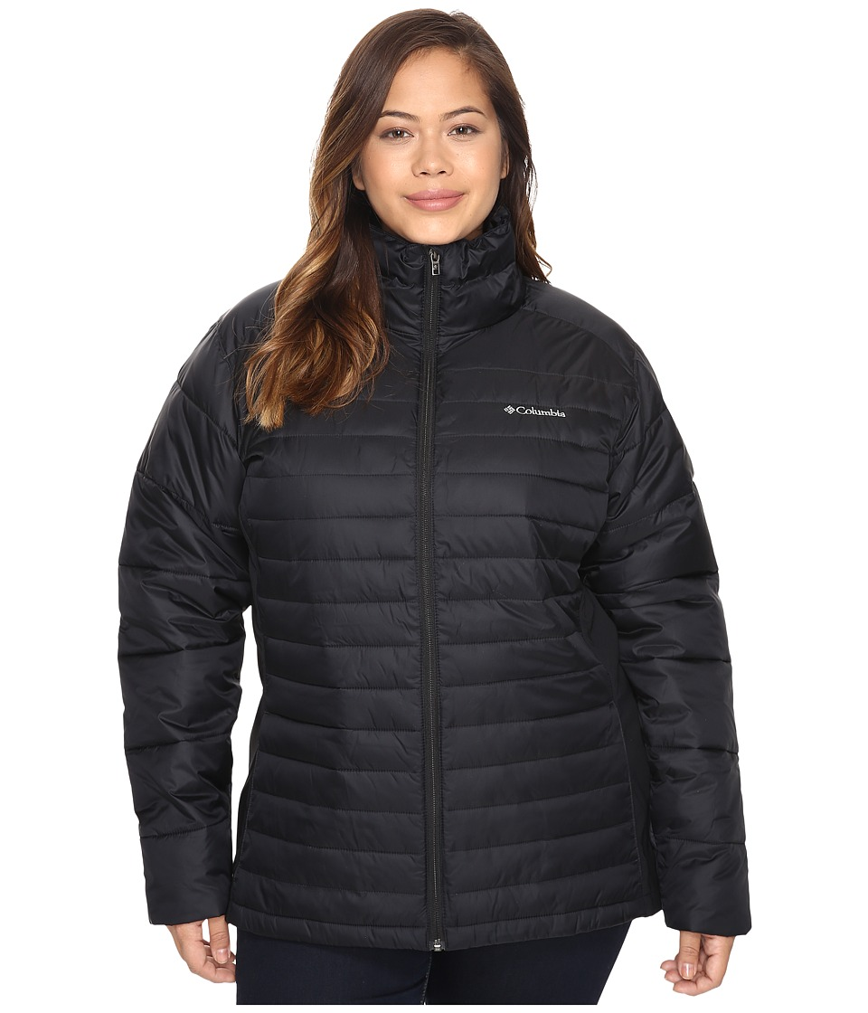Columbia - Plus Size Powder Pillow Hybrid Jacket (Black) Women's Coat