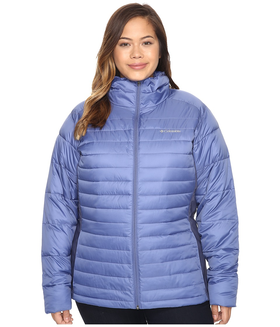 Columbia - Plus Size Powder Pillow Hybrid Jacket (Bluebell) Women's Coat