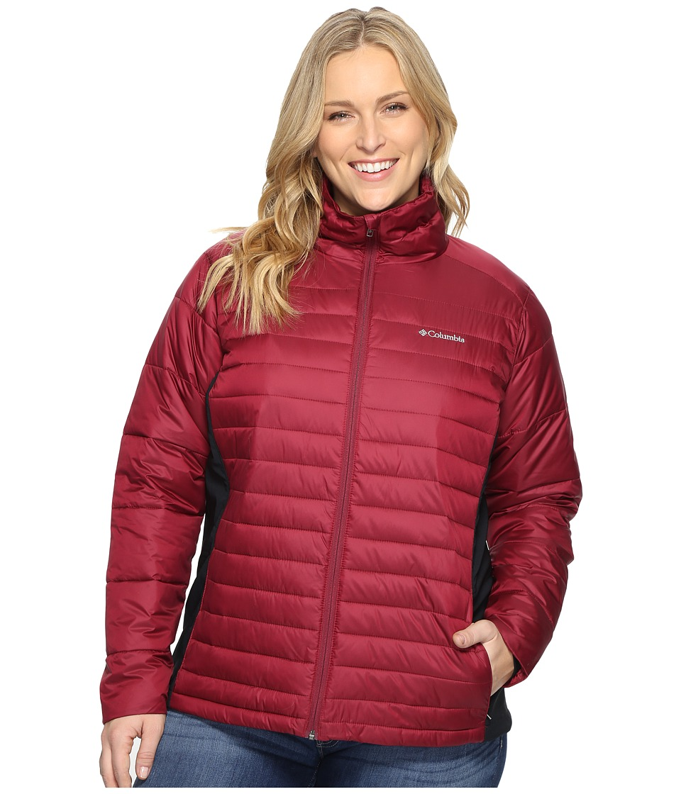 Columbia - Plus Size Powder Pillow Hybrid Jacket (Chianti) Women's Coat