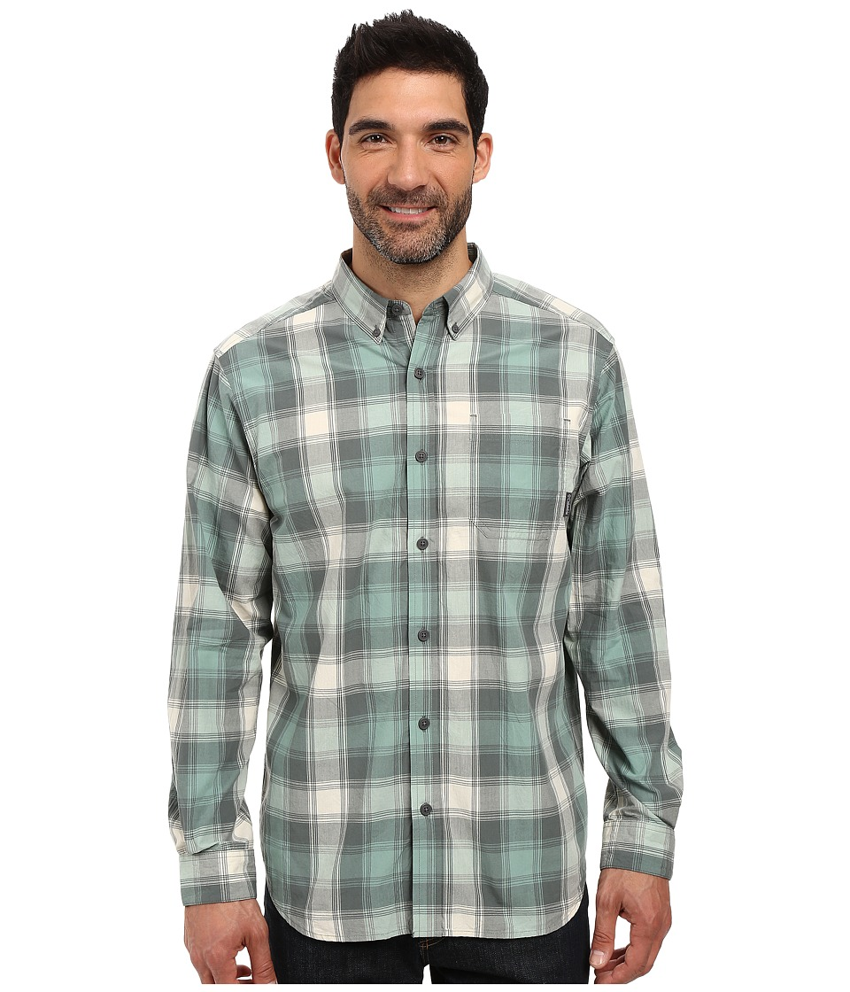 Columbia - Rapid Rivers Long Sleeve Shirt (Dusty Green Square Grid) Men's Long Sleeve Button Up
