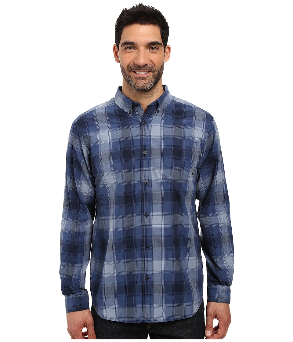 Columbia - Rapid Rivers Long Sleeve Shirt (Night Tide Square Grid) Men's Long Sleeve Button Up