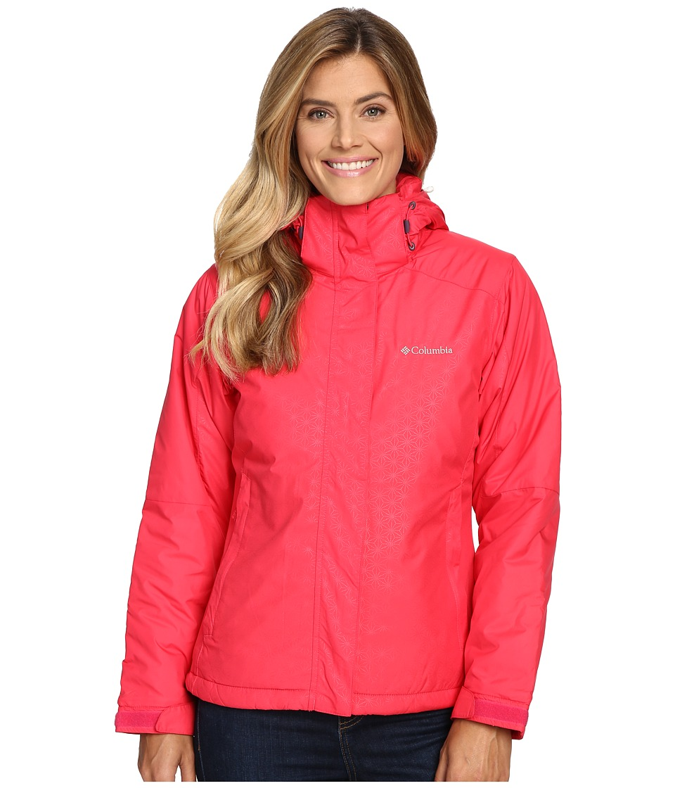 Columbia - Gotcha Groovin Jacket (Punch Pink Emboss) Women's Coat