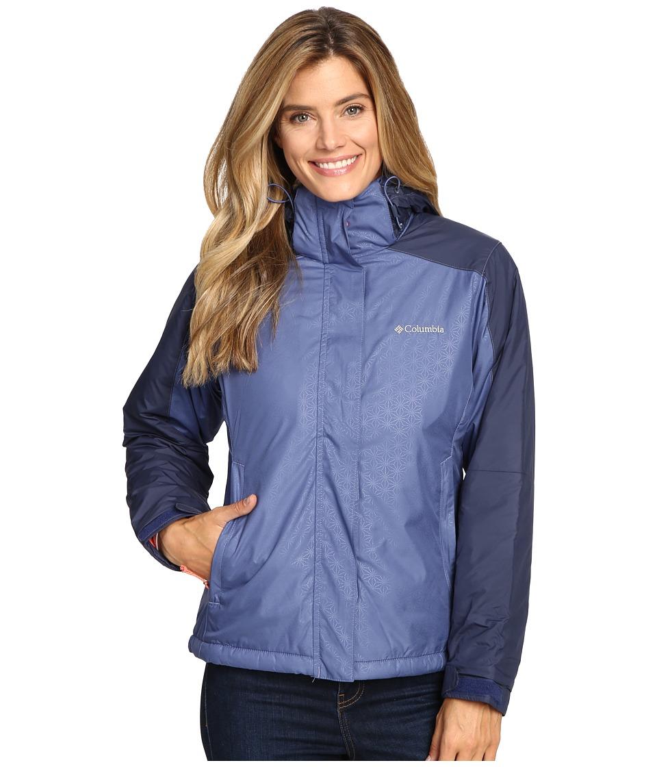 Columbia - Gotcha Groovin Jacket (Bluebell Emboss/Nocturnal) Women's Coat