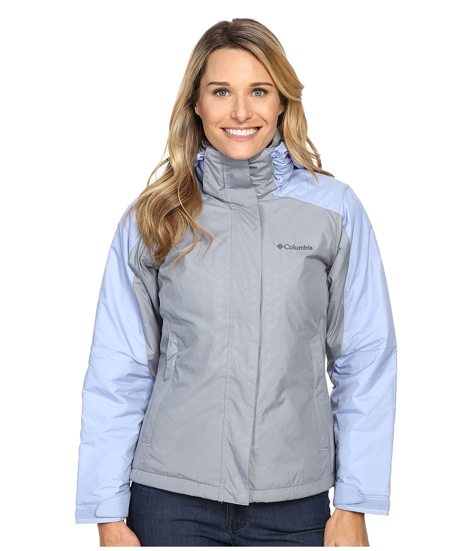 Columbia - Gotcha Groovin Jacket (Tradewinds Grey Emboss/Empress) Women's Coat