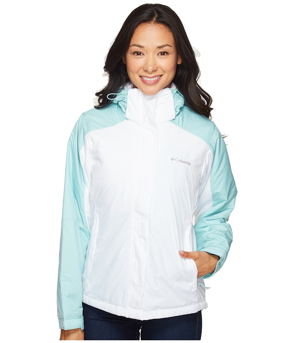 Columbia - Gotcha Groovin Jacket (White Emboss/Spray) Women's Coat