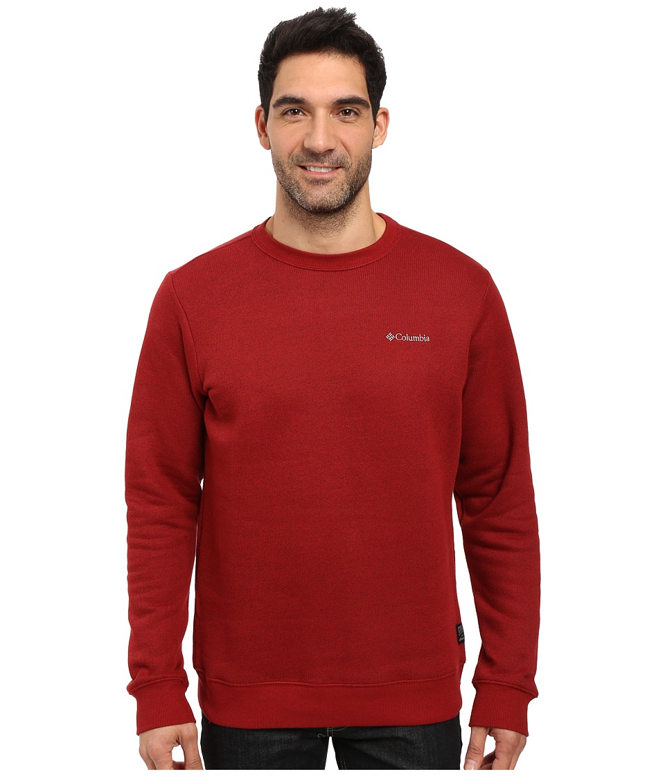 Columbia - Great Hart Mountain II Crew (Red Element Heather) Men's Clothing
