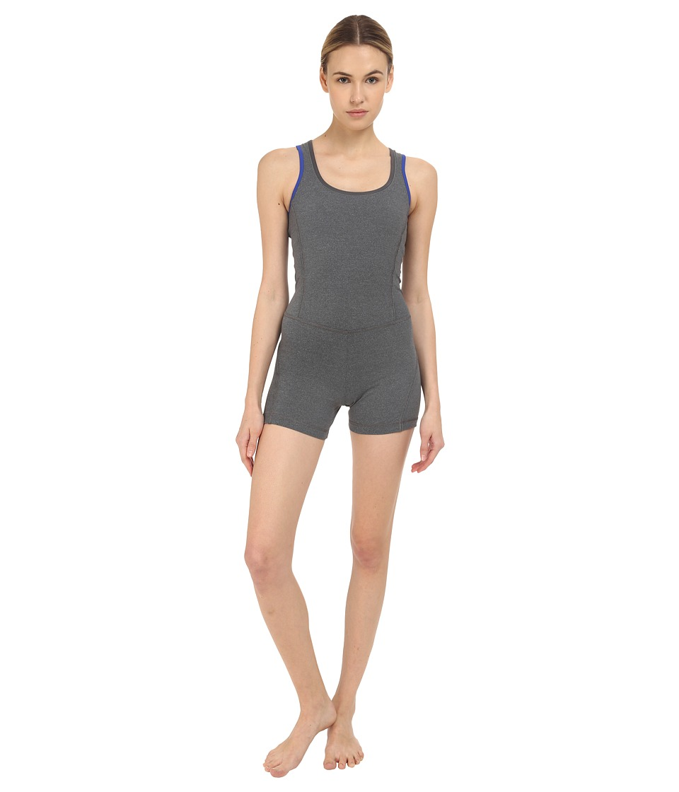 adidas by Stella McCartney - Studio One-Piece AO3606 (Dark Grey Heather) Women's Jumpsuit & Rompers One Piece