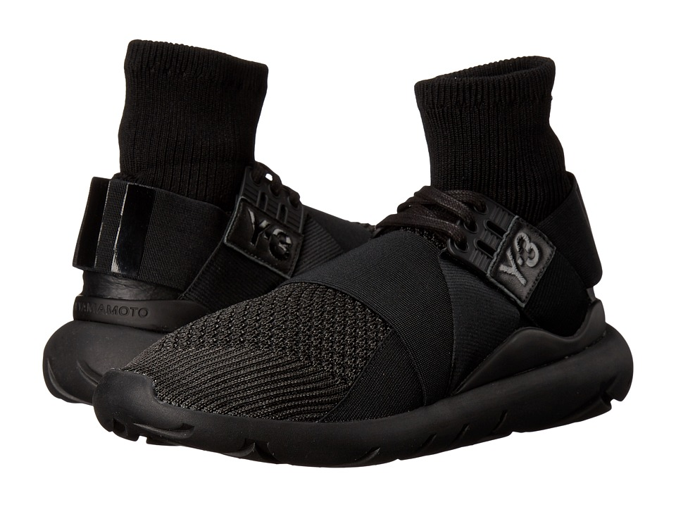 adidas Y-3 by Yohji Yamamoto - Qasa Elle Lace Knit (Core Black/Core Black/Core Black) Women's Lace up casual Shoes