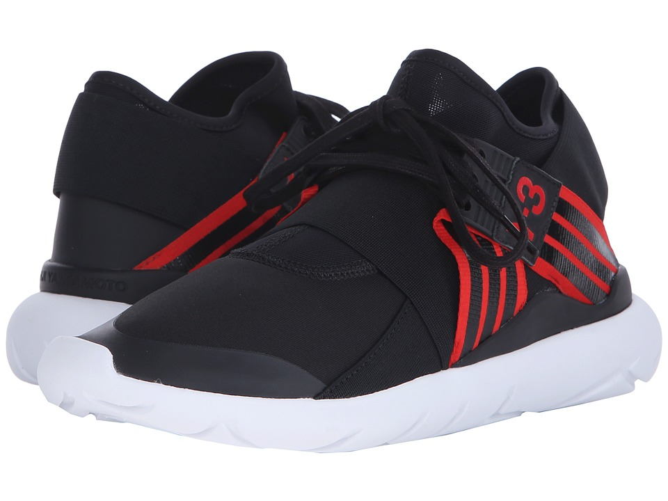 adidas Y-3 by Yohji Yamamoto - Qasa Elle Lace (Core Black/Scarlet/Core Black) Women's Lace up casual Shoes