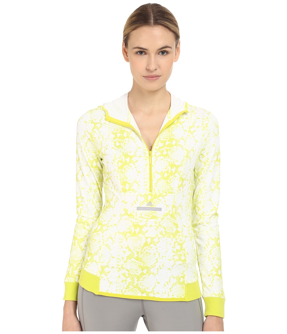 adidas by Stella McCartney - Essentials Hooded Long Sleeve AI8488 (White/Lab Lime F12) Women's Clothing