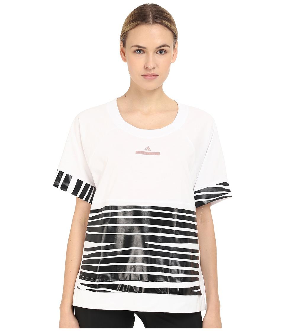 adidas by Stella McCartney - Essentials Zebra Tee AI8910 (White) Women's T Shirt