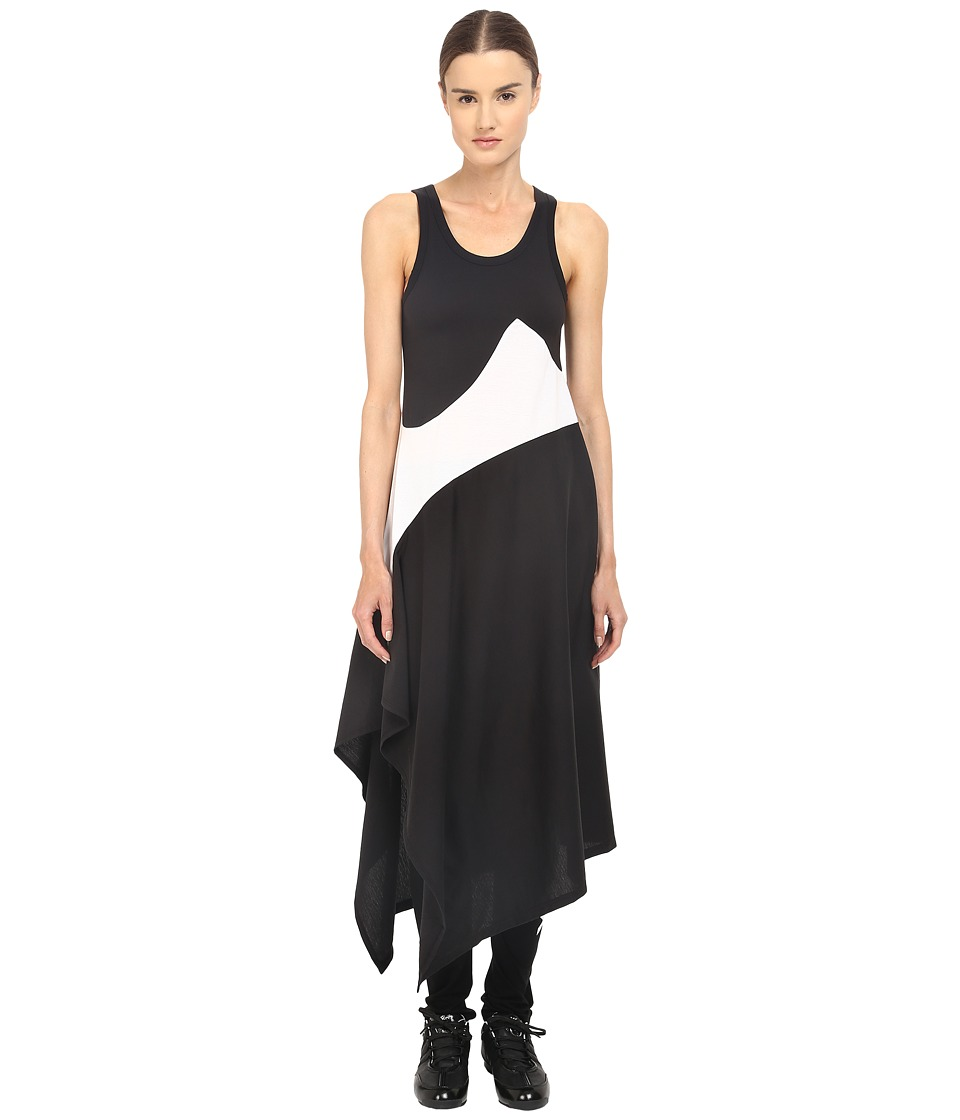 adidas Y-3 by Yohji Yamamoto - Motion Dress (Black/White) Women's Dress