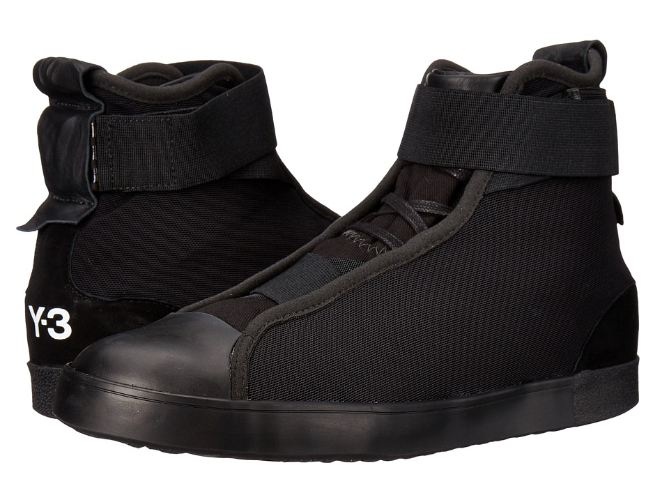 adidas Y-3 by Yohji Yamamoto - Loop Court Hi (Core Black/Core Black/Core Black) Women's Shoes